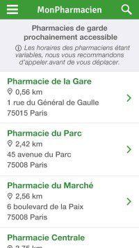 Liste des résultats - Paris - Mon Pharmacien